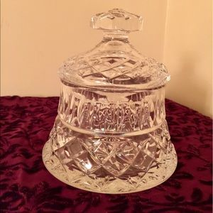 Crystal container bowl with lid candy new